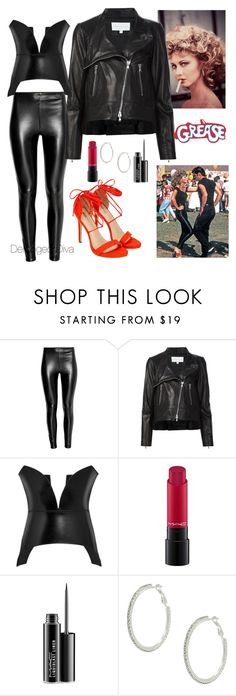 """""""Tell Me About It Stud..."""" by derangeddiva ❤ liked on Polyvore featuring Veronica Beard, Loewe and MAC Cosmetics"""