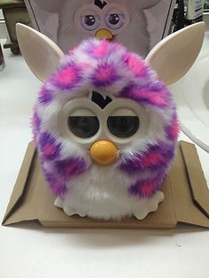 Leopard Pink Furby 2012 Purple White Pink One and Only Get by Christmas | eBay