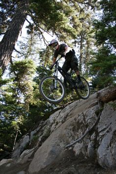 Slab drop, Whistler Bike Park, British Columbia