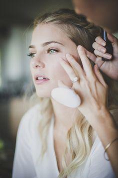 Simple bridal makeup.