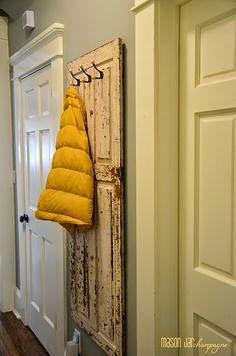 Little Brags: Decorating With Old Doors - coat rack