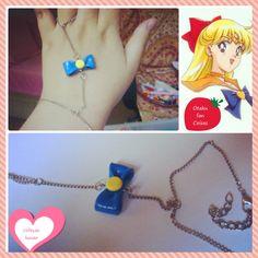 ~ Coleção Lunar ~ <br> <br>Pulseira de Mão da Sailor Vênus. Apenas 1 unidade disponível!!