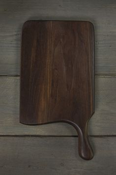 Handmade black walnut wood cutting board with a handle - BEAUTIFUL cutting board, I want the entire collection