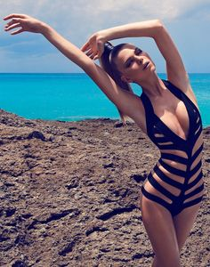 bathing suit bikini summer swimwear sexy swimsuit one piece High Fashion Looks, Beauty And Fashion, Fashion Glamour, Fashion Black, Black Monokini, Bikinis, Monokini Swimsuits, Tankini, Mode Editorials