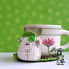 crochet DIY, crochet coaster pattern, crochet pattern, crochet sheep, crochet Vendulka, Magic with hook and needles