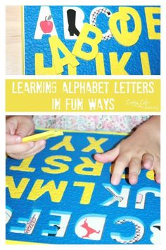 Learning alphabet letters in fun ways is important for children to be interested and engaged in the learning of alphabet letter names and alphabet letter sounds.