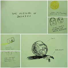 """Drawings by Mike Mills: """"The history of Sadness"""", watched in """"Beginners"""" http://mikemillsweb.com/"""