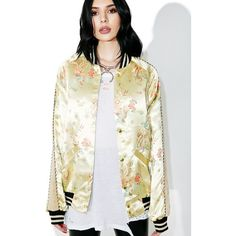 Jaded London Jacquard Souvenir Bomber ($158) ❤ liked on Polyvore featuring outerwear, jackets, striped jacket, bomber style jacket, white bomber jacket, embroidered jacket and jacquard jacket