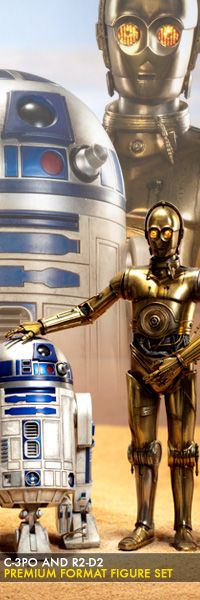 C-3PO and R2-D2 Premium Format Figure set  $749.99    Sideshow Collectibles is proud to introduce the highly anticipated C-3PO and R2-D2 Premium Format figure set. Presented in 1:4 scale, the iconic droid duo is crafted with stunning attention to detail.