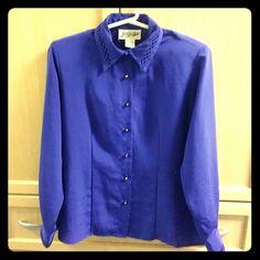 Purple button down shirt Purple dressyshirt Yves St. Clair Tops Button Down Shirts