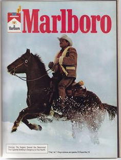 Marlboro Man Retro Advertising, Advertising Signs, Vintage Advertisements, Vintage Ads, Vintage Posters, Marlboro Cowboy, Marlboro Man, Luhan, Bicicletas Raleigh