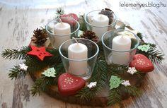 Adventi koszorú, karácsonyi asztaldísz