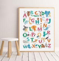groovy goose by groovygoose Art Wall Kids, Nursery Wall Art, Bedroom Wall, Party Invitations Kids, Alphabet, Kids Room, Room Decor, Art Prints, A4