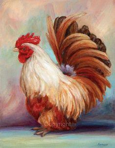 Coq Art Print pour le décor de la cuisine de par FerraroFineArt