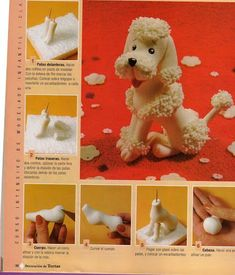 White clay poodle