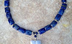 Lapis Lazuli to Uplift Your Mood, Handcrafted Necklace