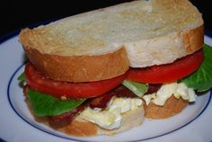 Egg Salad BLTs - use up Holiday leftovers in this time and money saving menu! Also on the menu this week - flank steak, veggie stir-fry and steak and onion pizza! Check it out! Steak And Onions, Veggie Stir Fry, Safety Pins, Best Sandwich, Flank Steak, Weekly Menu, Egg Salad, Learn To Cook, Fries