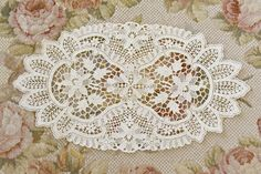Beautiful Vintage Chemical Lace Doily by Jenneliserose on Etsy