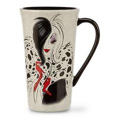 Disney Store Cruella De Vil 101 Dalmatians Coffee Mug Cup White Red Black Coffee Cups & Mugs Cute Tea Cups, Cute Mugs, Coffee Mug Display, Coffee Cups, Disney Coffee Mugs, Disney Cups, Disney Merchandise, Disney Villains, Disney Style
