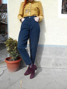 860fc5d6b Vintage Trussardi Jeans / Tapered Leg / Trussardi / Designer Jeans / High  Waisted / Mom / Hippie / Hipster / Retro Jeans / Boyfriend Jeans