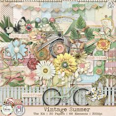 Aimee Harrison + Digilicious Vintage Summer Scrap Kit What could be better than a collab by 2 of my all-time favorite designers! Scrapbook Supplies, Scrapbook Paper, Scrapbook Kit, Summertime Pictures, Decoupage, Harrison Design, Free Digital Scrapbooking, Digital Papers, Scrapbooking Ideas