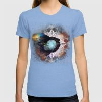 It's Complicated V. 3: In Space Womens Fitted Tee Tri-Blue SMALL
