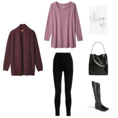 Stay At Home Mom Capsule Wardrobe Outfit 52 - Stay At Home Capsule Wardrobe Winter 2017 e-Book: all the casual and comfortable, yet functional outfits for the winter season, like a hoodie, sweatshirt, yoga pants, leggings, sweater, plaid shirt, tunic top, jegging jeans and skinny jeans.
