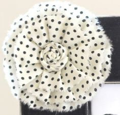 Large white/black polka dot