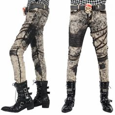Personalized Gothic Punk Emo Fashion Jeans Clothing Shops for Men SKU-11404096