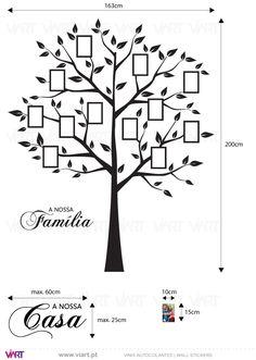 Viart - Vinis autocolantes decorativos - Árvore para fotografias - medidas