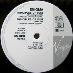 Enigma - Principles Of Lust GER 1991 Maxi mint