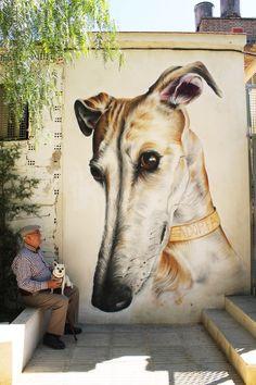 'ADOPTA' Mural in Baena (Cordoba,Spain) @sakeink Sake INK