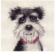 MINIATURE-SCHNAUZER-dog-puppy-Complete-counted-cross-stitch-kit