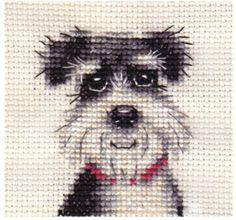 MINIATURE-SCHNAUZER-dog-puppy-Complete-counted-cross-stitch-kit