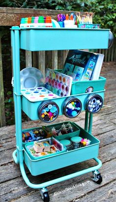 How to Set Up a Kids Arts Crafts Cart Art Supply Cart for Kids Easy to set up Arts and Crafts space for kids Homeschool ideas Preschool areas Kid Space Arts And Crafts House, Easy Arts And Crafts, Arts And Crafts Projects, Space Crafts, Arts And Crafts Supplies, Art Supplies For Kids, Easy Diys For Kids, Art Supplies Storage, Kids Diy