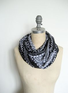 Alpine print Circle Scarf $16