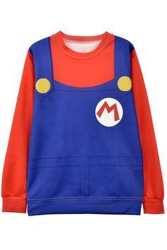 Favorite Mock Suspender Pattern Sweatshirt - OASAP.com