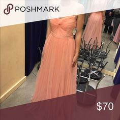 Soft pink tulle bridesmaid or prom dress Adorable dress for either prom or wedding! Sheer straps to give the illusion of strapless. Brand new with tags. Bride decided on a lighter shade for her wedding so I'm stuck with it. WINDSOR Dresses Wedding