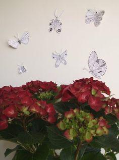 Art by Aastrøm #illustration #butterflies #hortensia aastrom.dk