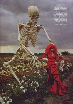 """Magical fashion"" de Tim Burton para Harper´s Bazaar 2009"
