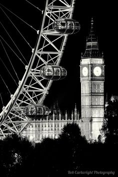 London Eye and Big Ben. Let's go there, partner!