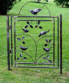 Gate at the Norman Rockwell Museum - maybe a little too fancy for my struggling veggie garden.