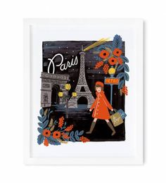 Illustrated Art Print created from an original gouache painting by Anna Bond.