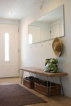 Steal This Look: DIY Entryway with Hairpin Leg Bench