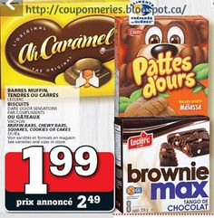 Coupons et Circulaires: 1,99$ Pattes d'ours, Caramel et Brownies Max