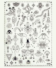 stick and poke tattoo flash sheet Archives - Bueno Company