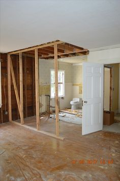 Master Bathroom Expansion View From Master Bedroom.