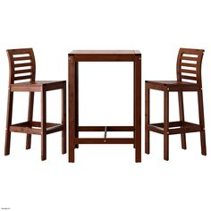 good Luxury 36 Inch Bar Stools , PPLAR bar table and 2 bar stools brown stained brown , http://ihomedge.com/36-inch-bar-stools/8547