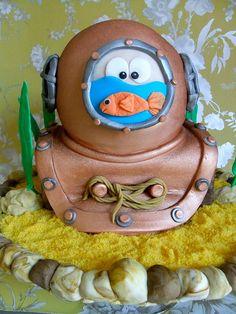 Diver's Helmet Cake