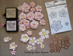 Today I am using the Heartfelt Creations Vintage Floret die  to create a pretty vintage flower.  Back in  March 2013  I posted a tutorial...
